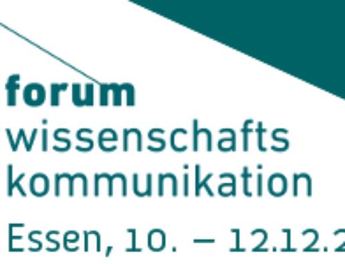12. Forum Wissenschaftskommunikation: Start Call for Proposals – bis zum 10. April 2019 Vorschläge für das Tagungsprogramm einreichen!