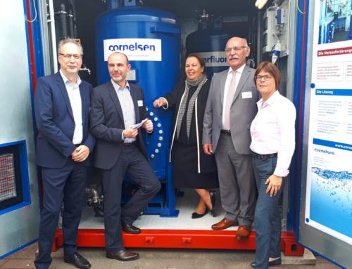 Essener Cornelsen Umwelttechnologie GmbH nimmt mobile Löschwasser-Behandlungsanlage in Betrieb