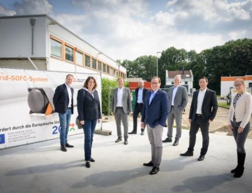Grundsteinlegung des europaweit ersten Hybrid-SOFC-Systems