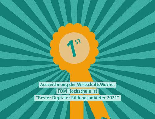 "FOM Hochschule ist ""Bester Digitaler Bildungsanbieter 2021"""